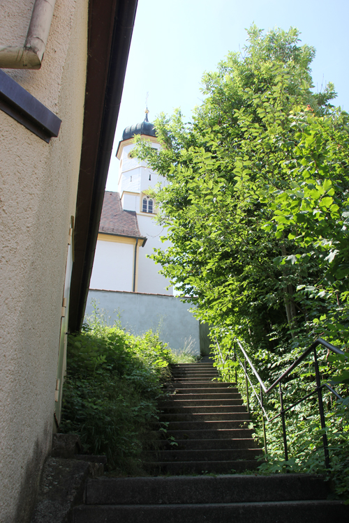 Treppen zur Kirche Untermarchtal