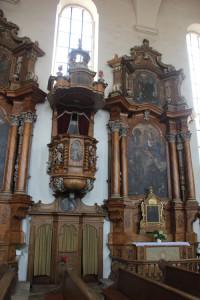 08 Altare und Kanzel Liebfrauenkirche Ehingen Donau