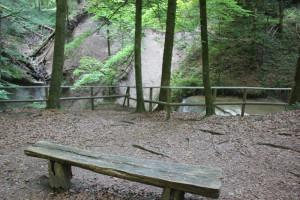 Aussichtspunkt Wasserfall im Schmalegger Rinkenburger Tobel