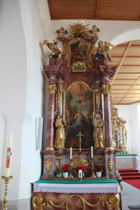 Linker Seitenaltar Eintürnen Berg Kirche