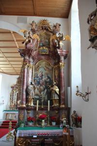 Rechter Seitenaltar Eintürnen Berg Kirche