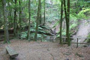 Erholungsbänke-Wasserfall-Schmalegger-Rinkenburger-Tobel