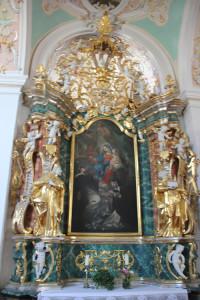 Kißlegg-Kirche-Seitenaltar
