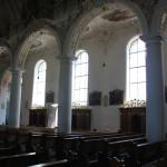 Seite des Langhaus Kißlegg Kirche