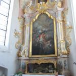 Seitenaltar mit Grab Kißlegg Kirche