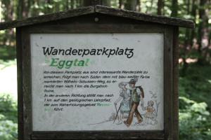 03 Schild Wanderparkplatz Eggtal