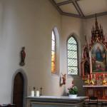 Kirche Illmensee Altarraum Seite
