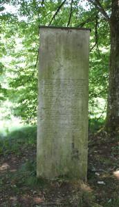 Denkmal Hohmichele Stele