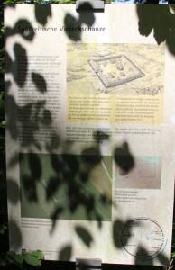 Info-Tafel Vierecksschanze Speckau Altheim-Heiligkreuzthal