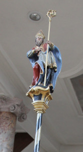 Barocke Bischofsfigur Kirche Erbach