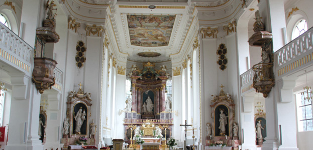 Innenraum Kirche Bad Wurzach
