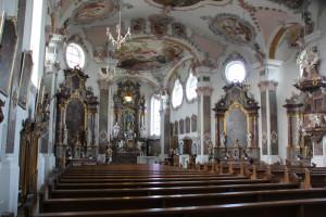Innenraum Kirche Erbach