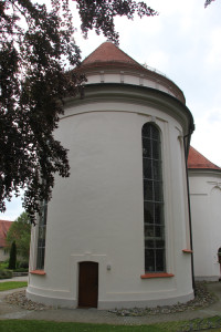 Runde Apsis Kirche Bad Wurzach