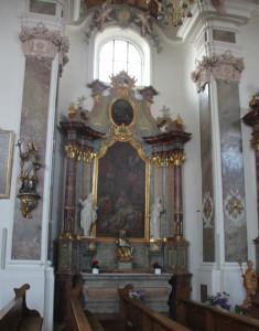 Seitenaltar links Kirche Erbach
