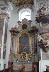 Seitenaltar rechts Kirche Erbach
