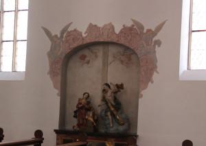 Altarfiguren in Woelbungen
