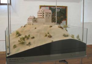 20 Modell der Burg 1560