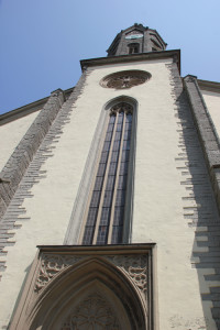 Neugotischer Turm Kirche Hohentengen
