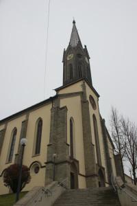 Treppe zur Kirche Hohentengen