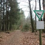 Schreckensee Naturschutzgebiet Schild