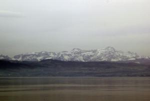 Blick auf Alpen und Bodensee