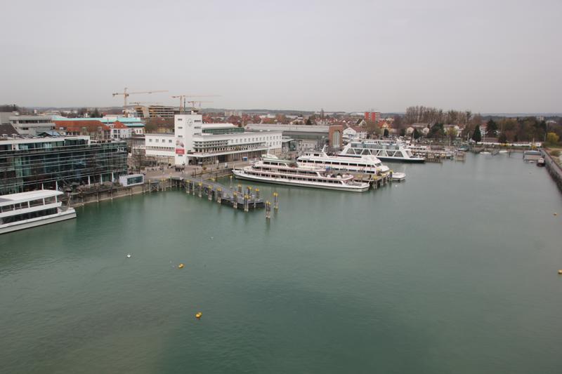 Blick auf Hafen Friedrichshafen