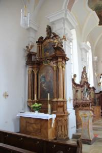 Kirche Unlingen Seitenaltar