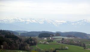 Schnee in Alpen