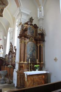 Seitenaltar Unlingen Kirche