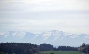 Sicht auf Alpen