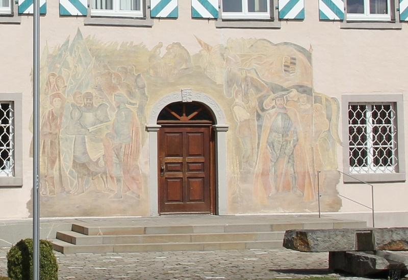 Fassadenmalerei Rathaus Herdwangen
