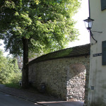 Alte Mauer neben Franziskanerinnen Kloster Leutkirch