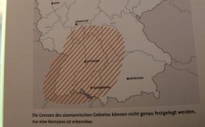 Ausdehnung Alemannen