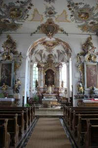 Mittelgang Kirche St Martin Altheim