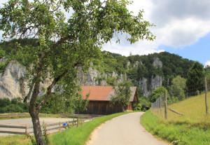 15 Donau-Radweg entlang Felsen