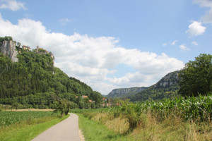 20 Burg und Ortschaft entlang Donau-Radweg