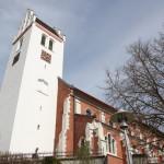 Kirche Oggelshausen von unten