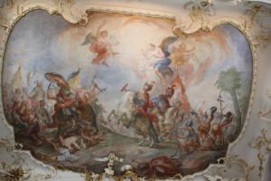 Deckenbild Schlosskapelle Tettnang