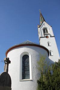 Runde Apsis Nikolaus Kirche Schmalegg