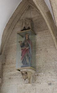 Maria Statue Eingang Kirche Bad Saulgau