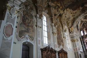 Bemalter Stuck Kirche Pfullendorf