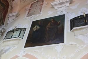 Stuck und Heiligenbilder Kirche Pfullendorf