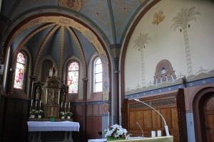 Apsis Malerei St Peter & Paul Kirche Heudorf Scheer