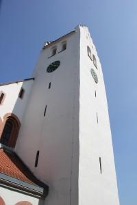 Mittelalterlicher Turm Kirche Heudorf Scheer
