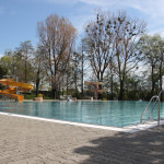 Wasserrutsche am Pool Strandbad Eriskirch