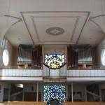 Orgel bunte Fenster Kirche Duermentingen