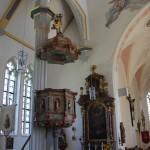 Barocke Kanzel Kirche Unterschwarzach