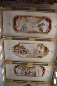 Deckenfresko Kirche Unterschwarzach