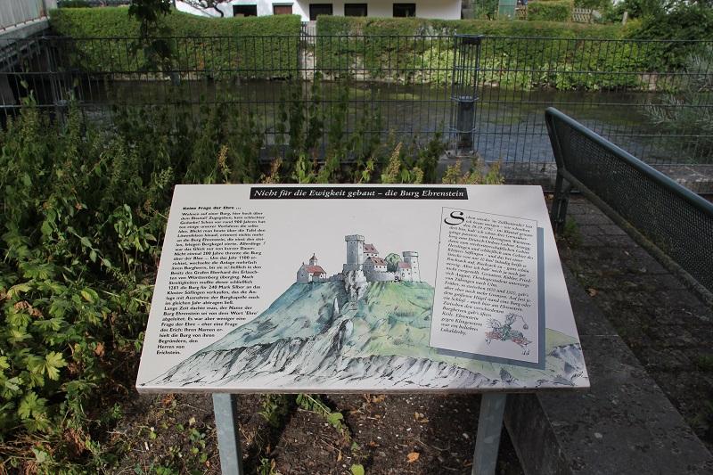 Rekonstruktion Gedenktafel Loewenfelsen Blaustein-Ehrenstein