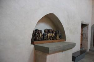 Nische mit Abendmahl Darstellung Kloster Reichenau